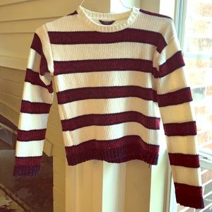 Forever 21 Girls size 14 cropped striped sweater